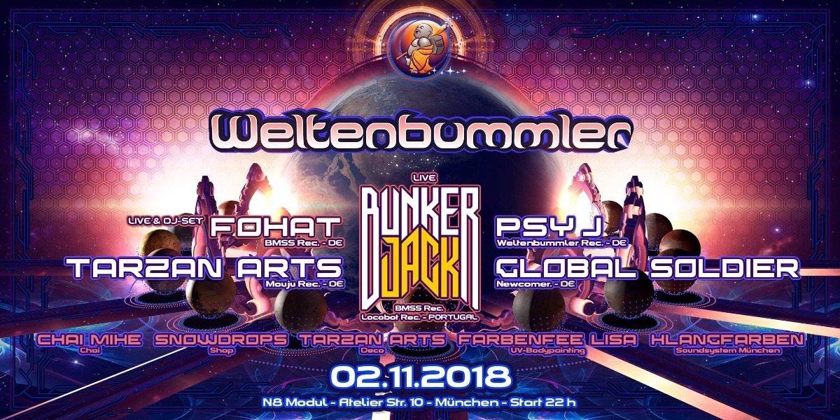 Weltenbummler with Bunker Jack 2 Nov '18, 22:00