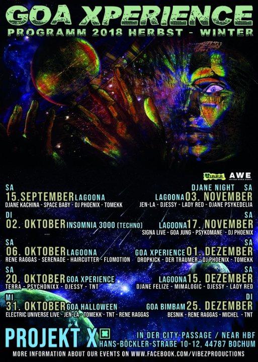 ★Lagoona★ Progressive & Psychedelic Djane Night 3 Nov '18, 23:00