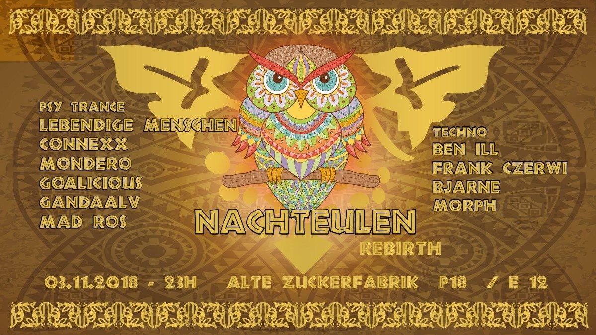 Nachteulen rebirth ; Lebendige Menschen / Connexx / Mondero / Gandaalv 3 Nov '18, 23:00
