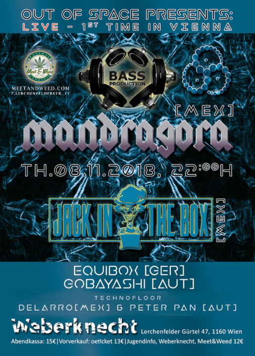 Out Of Space presents: MANDRAGORA - 1st time in Vienna 8 Nov '18, 22:00