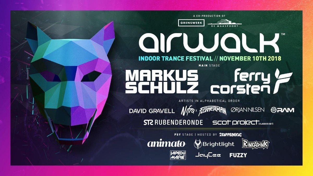 Airwalk - Indoor Trance Festival 10 Nov '18, 21:00