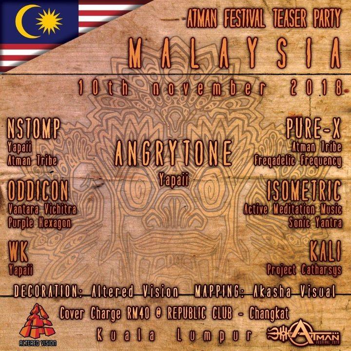 Atman Festival Teaser Kuala Lumpur 10 Nov '18, 22:00