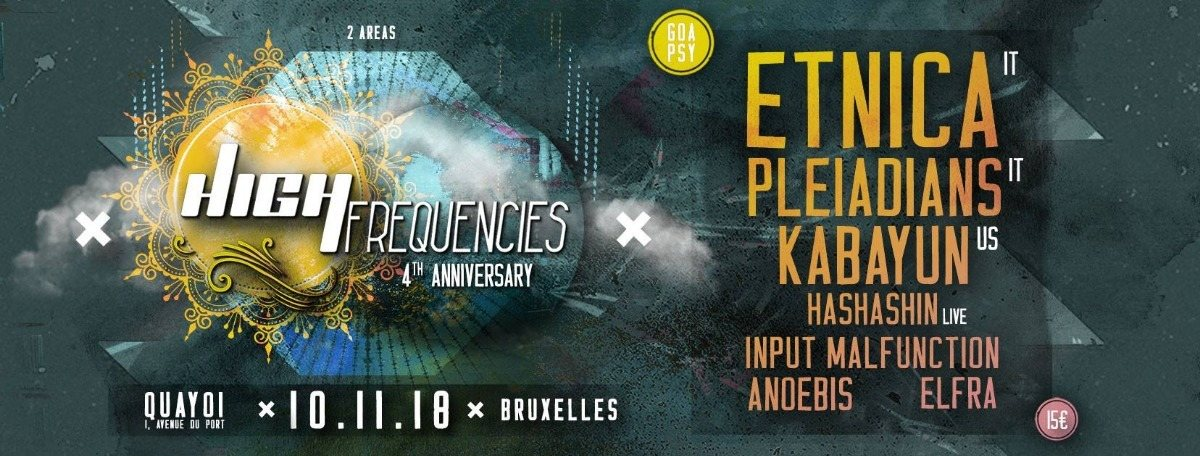 High Frequencies ॐ 4 Years 10 Nov '18, 21:00