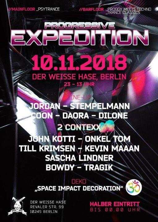 Progressive Expedition 10 Nov '18, 23:00