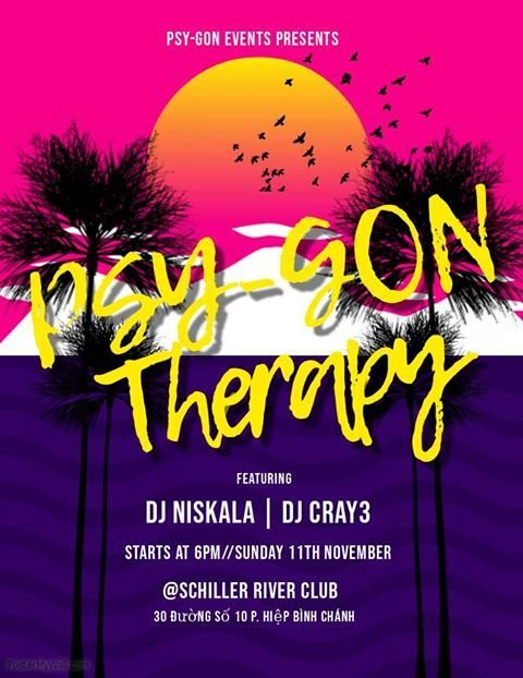 Psy-Gon Therapy · 11 Nov 2018 · Ho Chi Minh City (Vietnam) · goabase ॐ  parties and people