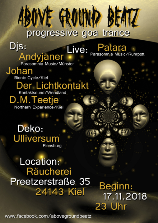 """AboveGroundBeatz 5 """"Patara Live"""" 17 Nov '18, 23:00"""
