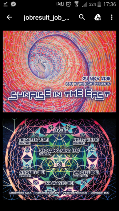 Lost in the light presents: Sunrise in the east 24 Nov '18, 22:00