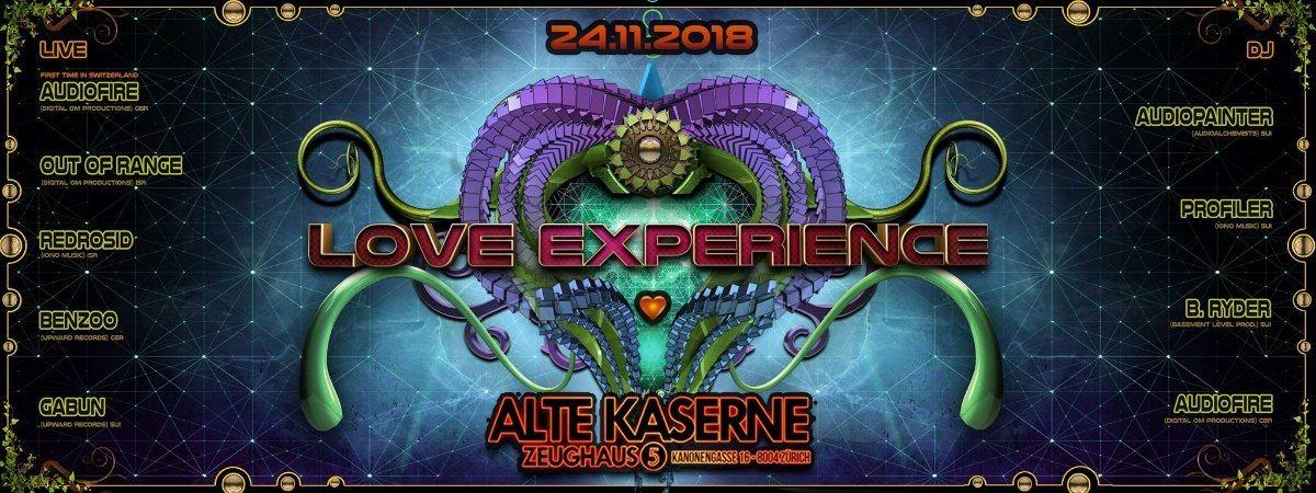 **LOVE EXPERIENCE** Alte Kaserne Zürich 24 Nov '18, 22:30