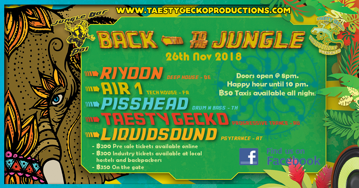 Back To The Jungle 26 Nov '18, 19:00
