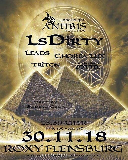 Anubis Rec. Label Night 30 Nov '18, 23:30