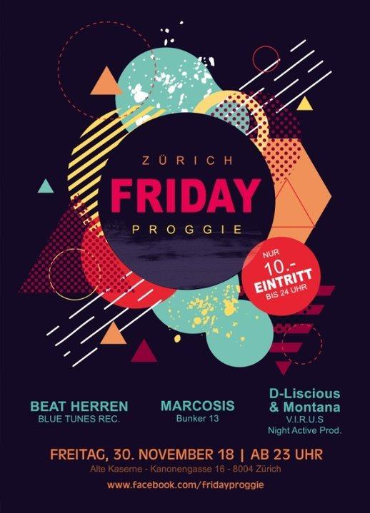 Friday Proggie Zürich 30 Nov '18, 23:00