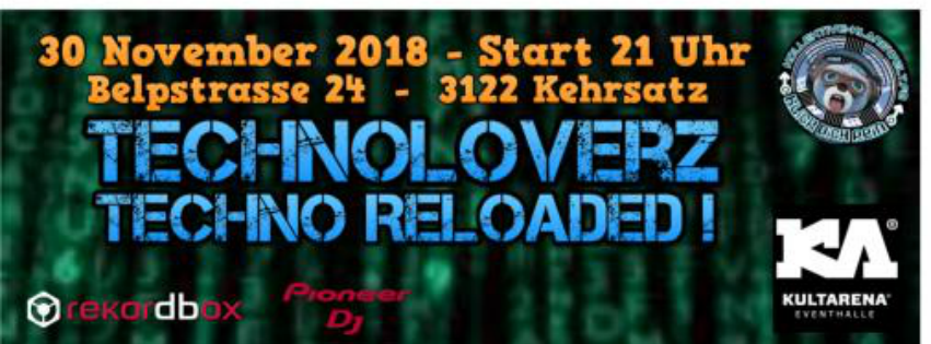 TechnoLoverZ - Techno Reloaded ! (30 Nov. 2018) 30 Nov '18, 21:00