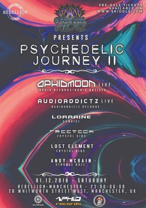 Psychedelic Journey II 1 Dec '18, 23:00