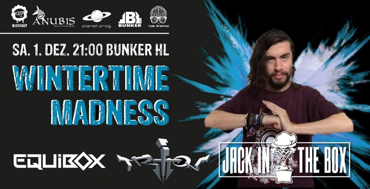 Wintertime Madness 2018 GOA / Techno / DNB 1 Dec '18, 21:00