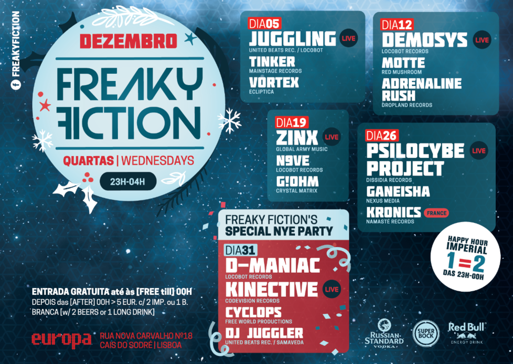 FREAKY FICTION 5 Dec '18, 23:00