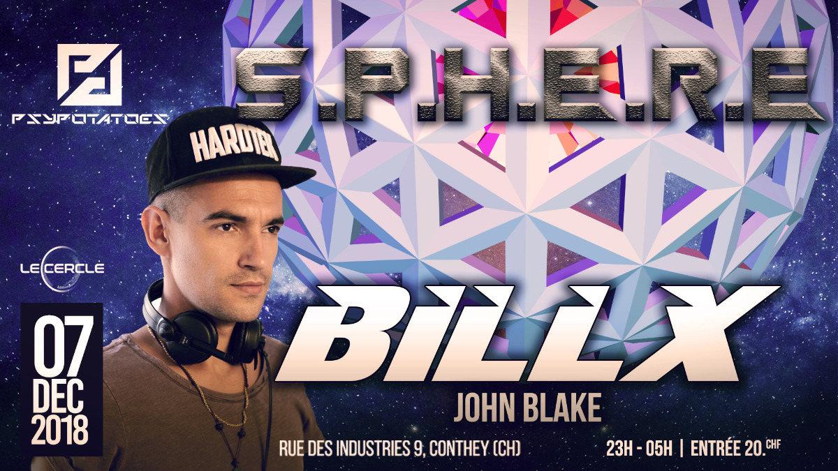 Psypotatoes - Sphere - Billx & John Blake 7 Dec '18, 23:00