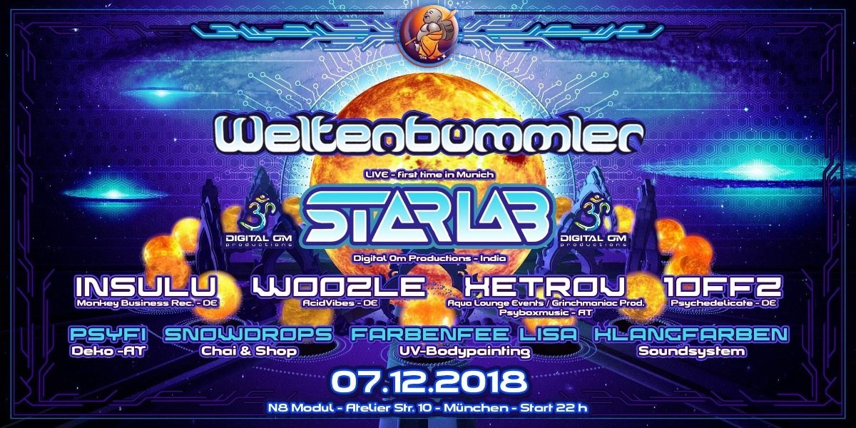 Weltenbummler with StarLab (live) 7 Dec '18, 22:00