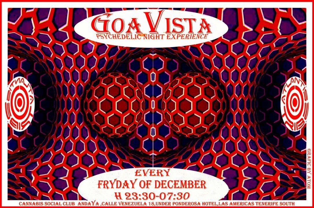 GOAVISTA- ATLANTIS TRIBE CLUB PARTY-EVERY FRIDAY OF DECEMBER! 14 Dec '18, 22:00