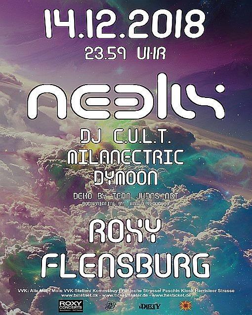 Neelix, DJ Cult, Milanectric, Dymoon am 14.12. im Roxy Flensburg 14 Dec '18, 23:30
