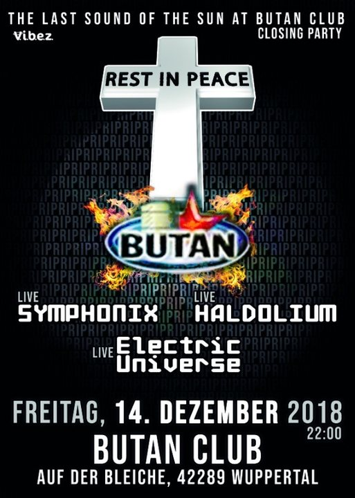 Sound of the Sun / The End / last one at Butan / RIP / 14 Dec '18, 22:00