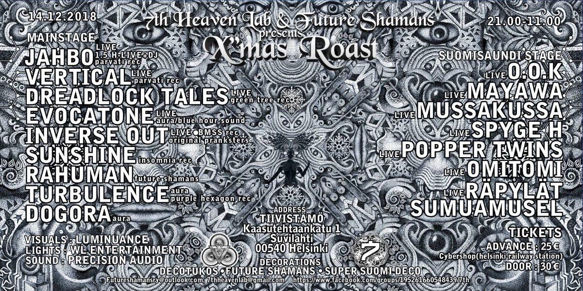X'MAS ROAST 14 Dec '18, 21:00