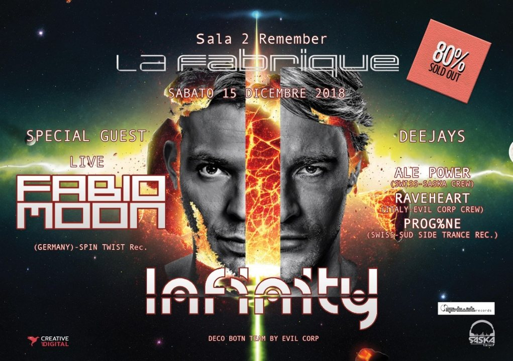 Infinity Present Fabio&Moon Live 15 Dec '18, 23:30