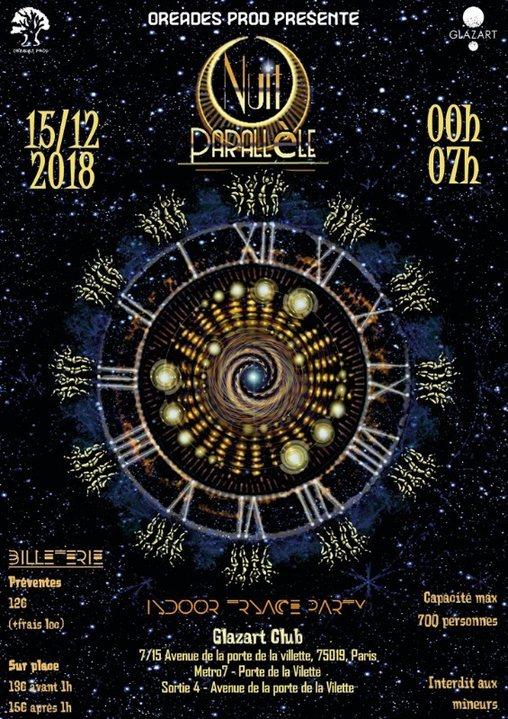 NUIT Parallele Paris Glazart 15 Dec '18, 23:30