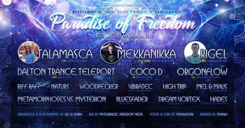 PARADISE OF FREEDOM 15 Dec '18, 17:00