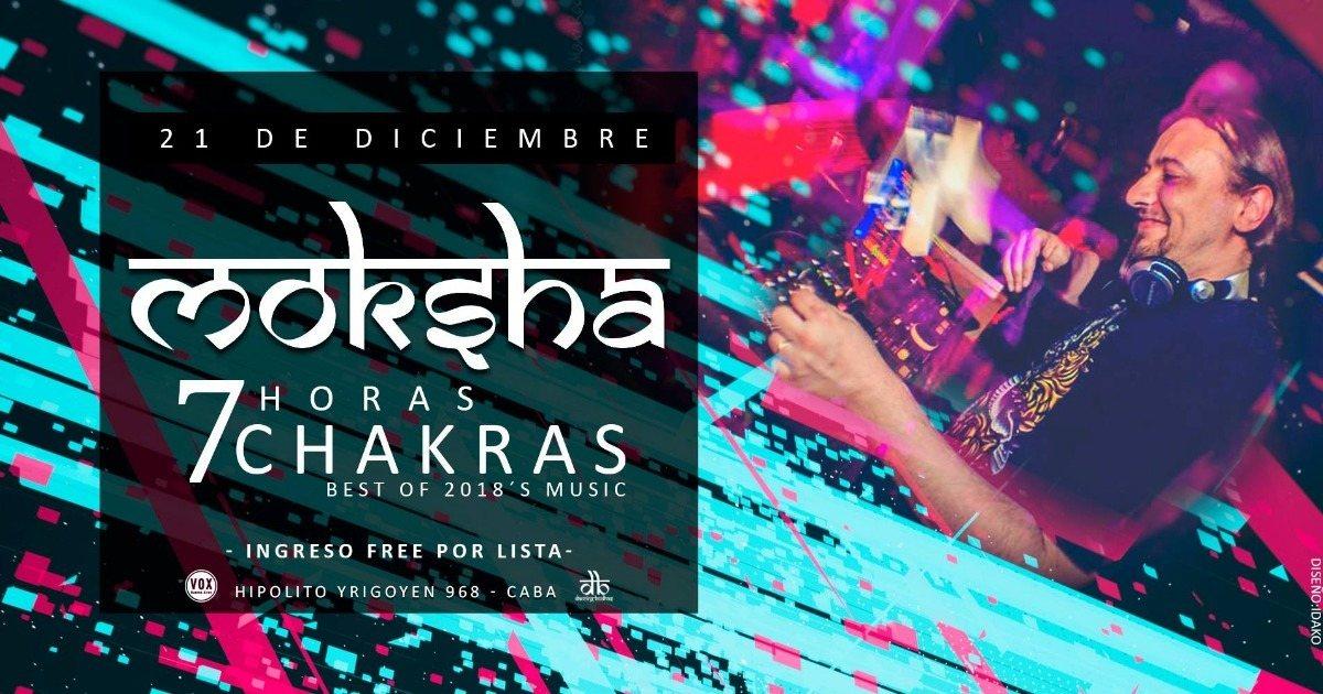 Dancing Budhas features Dj Moksha 7 Chakras 7hs 21 Dec '18, 23:30
