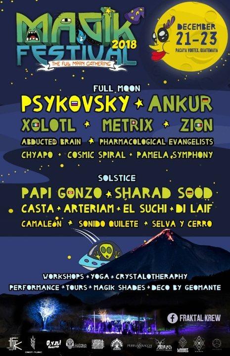 MAGIK FESTIVAL-Full Moon Festival 21 Dec '18, 14:00