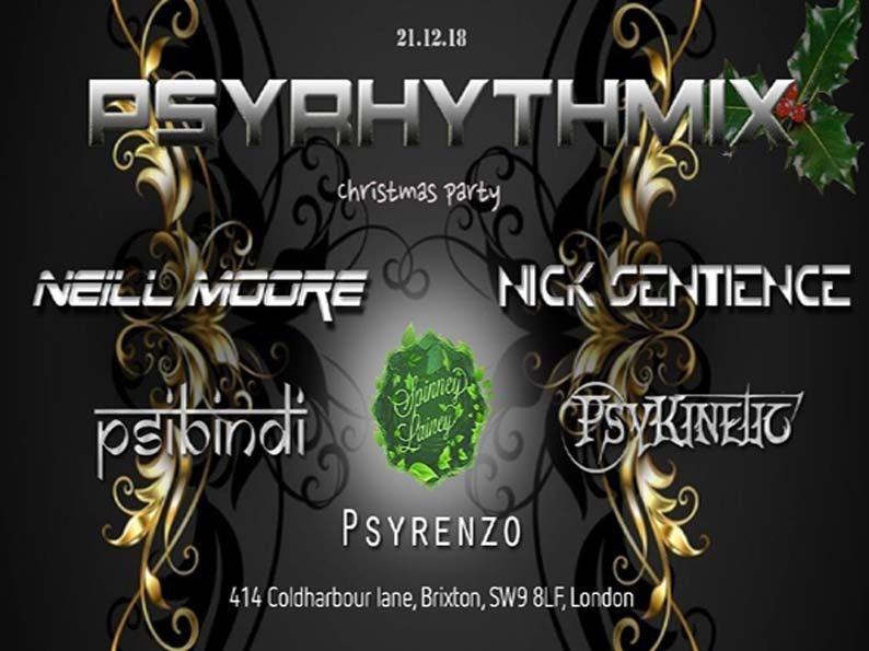 Psyrhythmix Christmas Party 21 Dec '18, 23:00