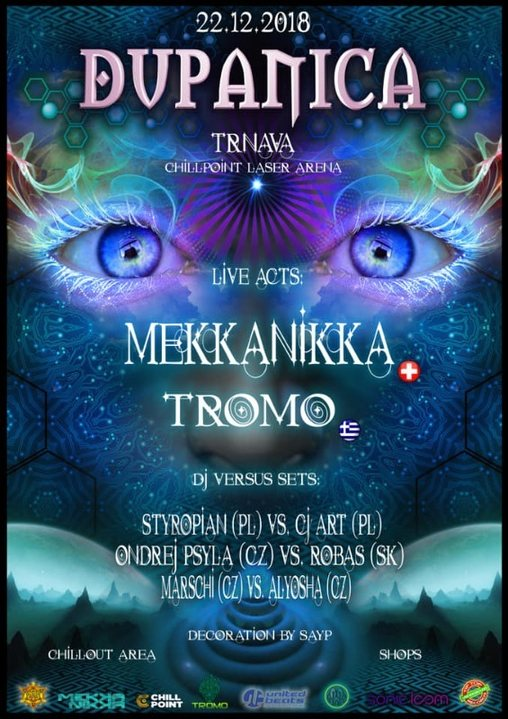 DuPaNiCa - Mekkanikka live! & Tromo live! 22 Dec '18, 21:00