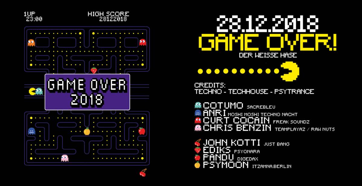 Game Over 2018 w/ Cotumo, John Kotti, and more! 28 Dec '18, 23:00
