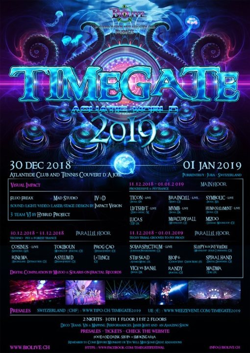 Timegate 2019 - Aquatic World - Night two 31 Dec '18, 18:00