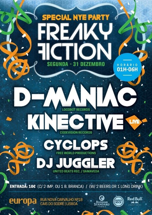 FREAKY FICTION - SPECIAL NYE PARTY 31 Dec '18, 23:30