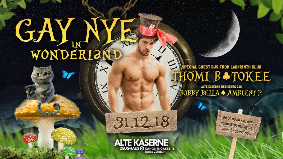Gay NYE in Wonderland w/ Labyrinth DJs 31 Dec '18, 23:00
