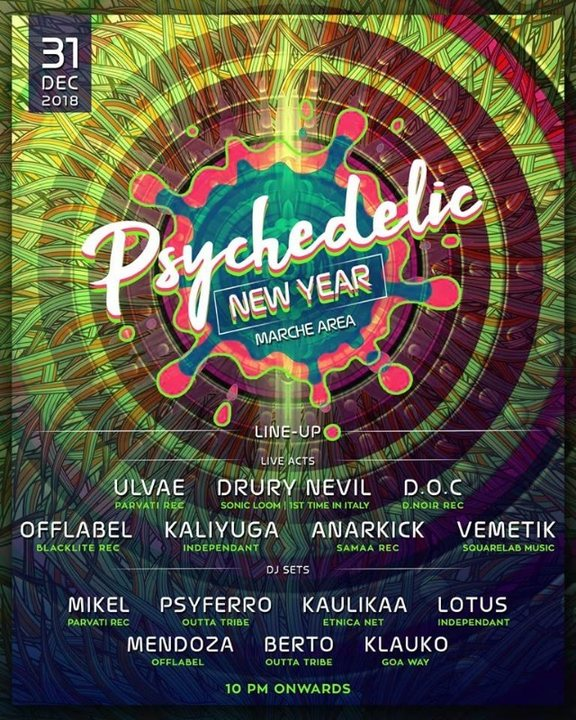 Psychedelic New Year + Tekno 31 Dec '18, 18:00