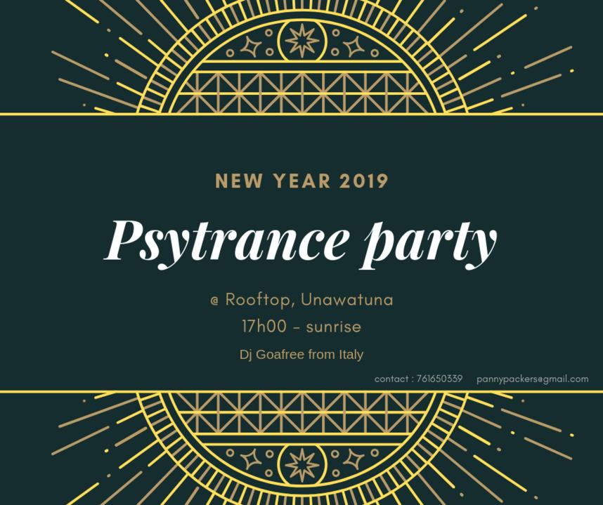 Psytrance New Year party 31 Dec '18, 20:00