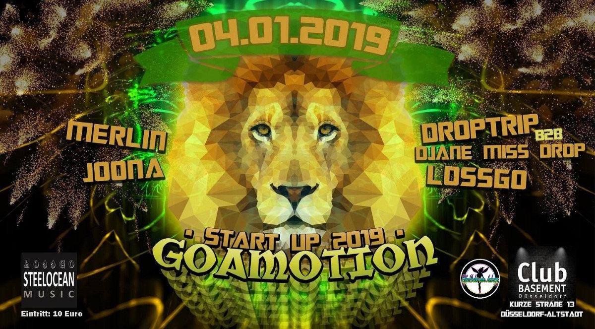GOAMOTION - Start Up 2019 // Goa-Event 4 Jan '19, 22:00