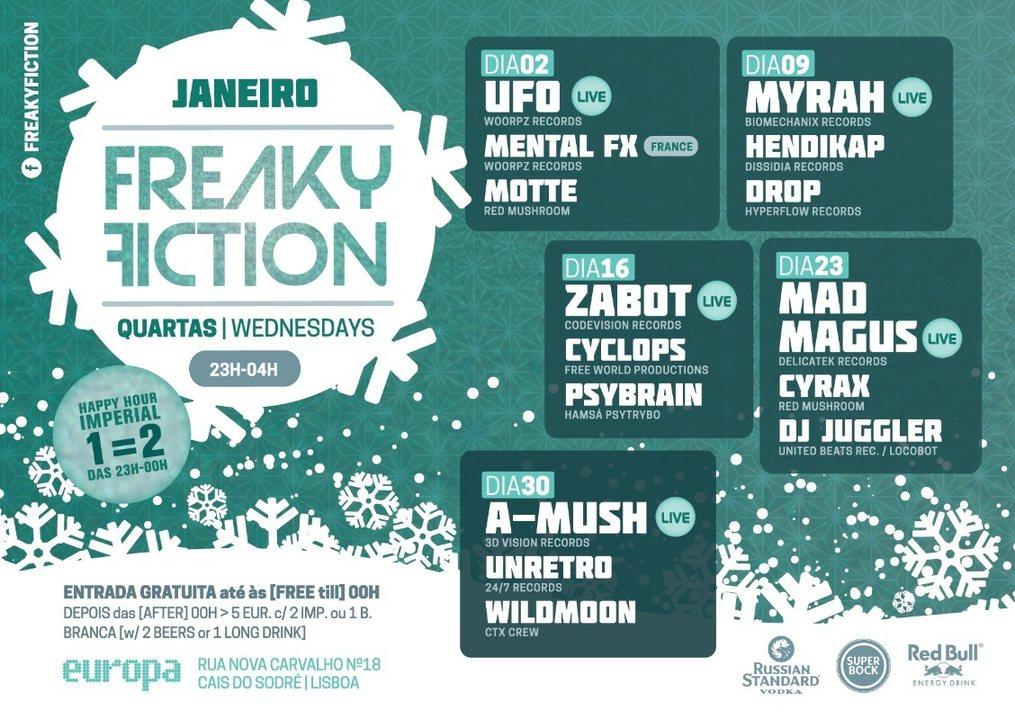 FREAKY FICTION 9 Jan '19, 23:00