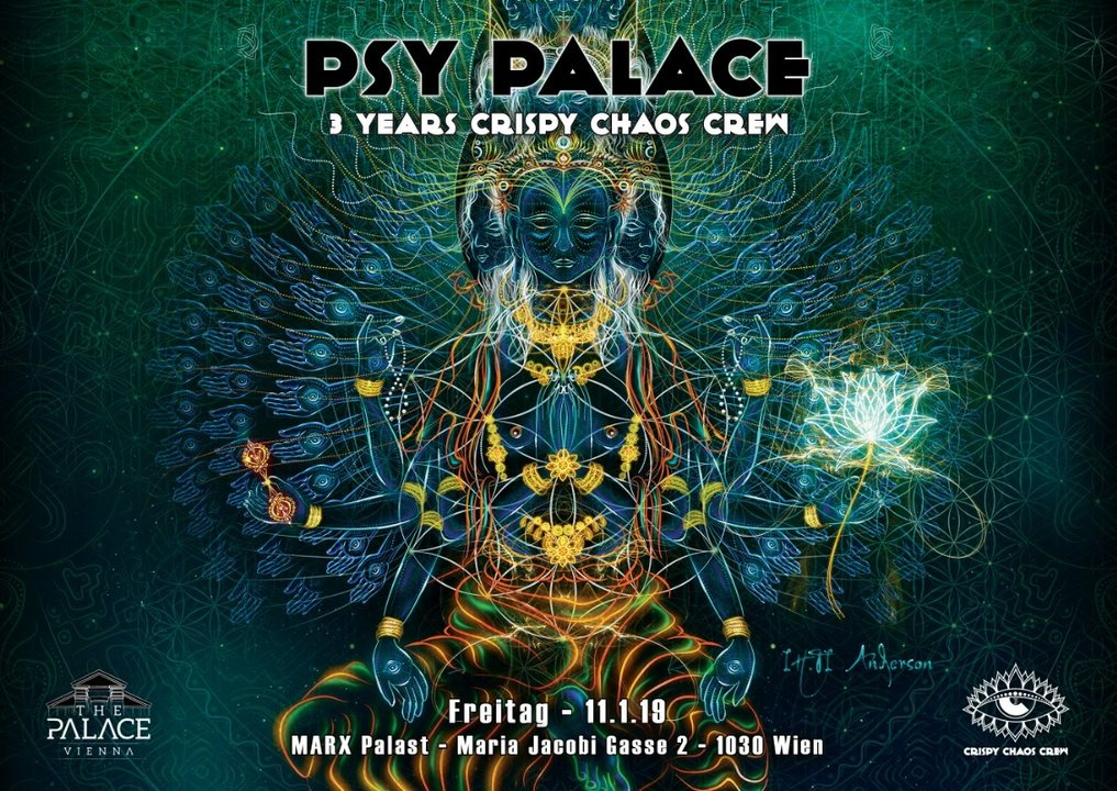 Psy Palace – 3 YEARS Crispy Chaos Crew 11 Jan '19, 22:00