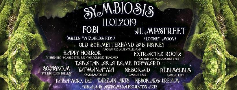 Symbiosis /w Jumpstreet&Fobi by Mouju&Hyprid Rec 11 Jan '19, 22:00