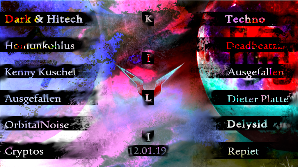 Psy & Techno Free Party at Kulturhaus Kili 12 Jan '19, 22:00