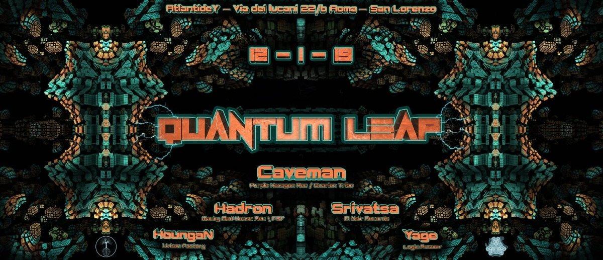 QuAnTuM LeAp ☆ Underground Psytrance Party ROME 12 Jan '19, 23:00