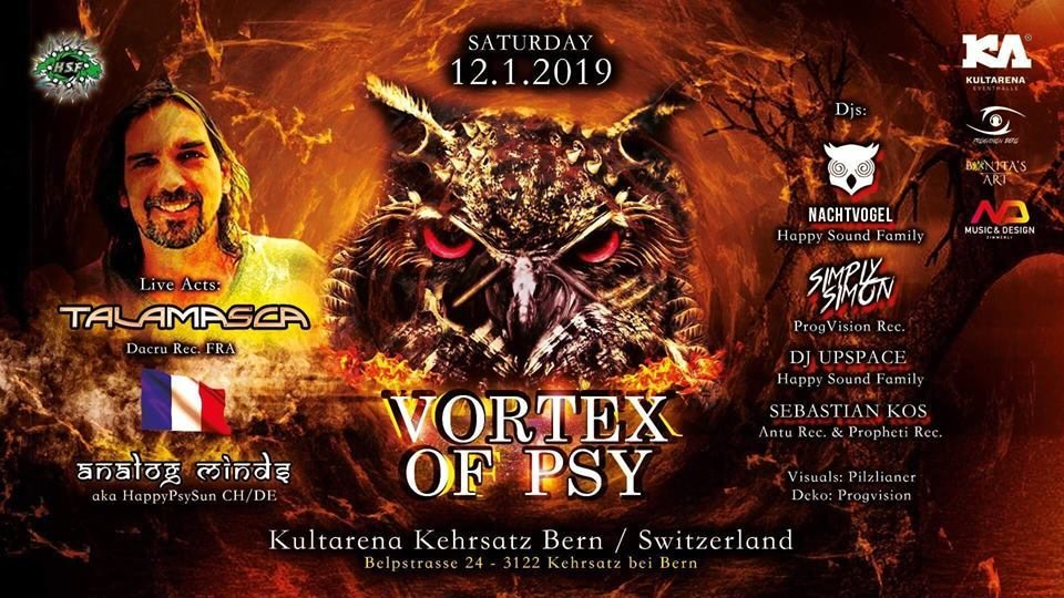 Vortex of PSY / w TALAMASCA & ANALOG MINDS (BERN) 12 Jan '19, 21:00