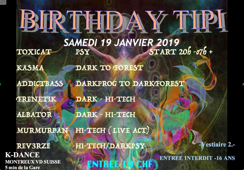 BIRTHDAY TIPI 19 Jan '19, 20:00