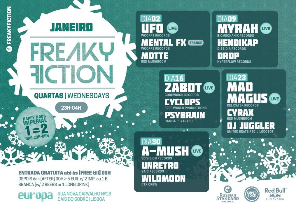 FREAKY FICTION 23 Jan '19, 23:00