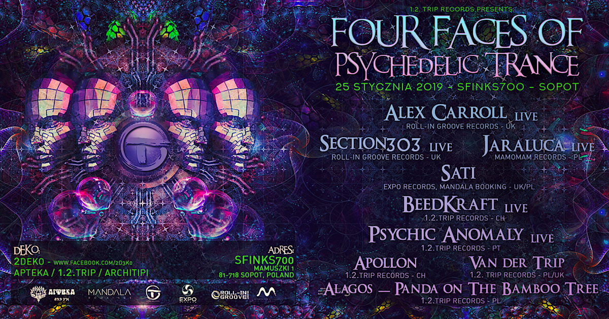 Four Faces Of Psychedelic Trance 25 Jan '19, 22:00