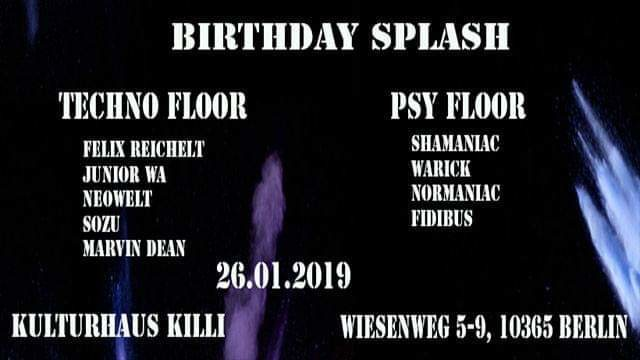 Birthday Splasher Nr.1 26 Jan '19, 22:00