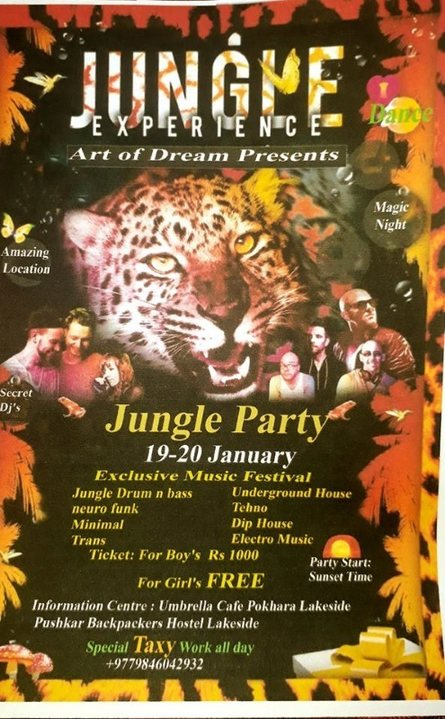 Jungle Experience Art Of Dreams Presents 26 Jan '19, 22:00